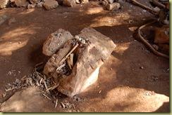 Bones etc found in lava tube
