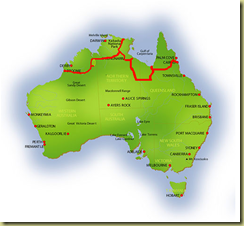 Australia Map Broome
