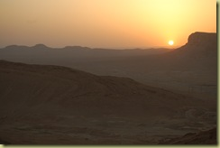 Sunset over the dessert