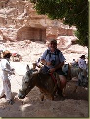Mule rider Petra