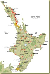 North Island to Russell