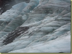 Glacier with rock