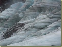 Glacier with rock