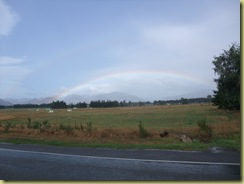 Rainbow over Hanmer Springs