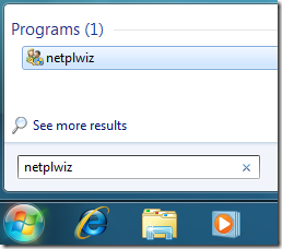 netplwiz
