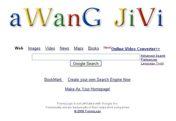 Merubah Google Menjadi Nama kita