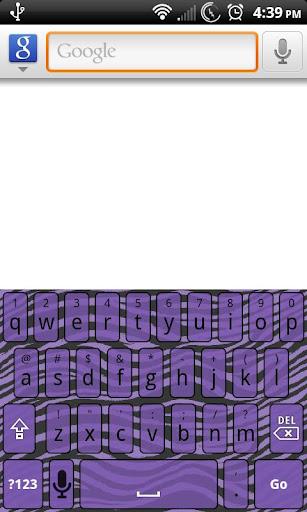 Purple Zebra Keyboard Skin
