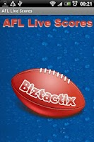 Screenshot of AFL Live Scores