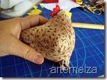 artemelza - galinha country de patchwork