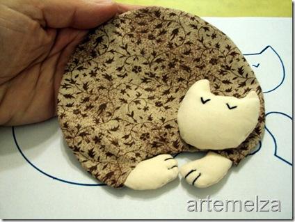 artemelza - porta caneca gatinho dorminhoco