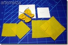borboleta de fuxico quadrado - material