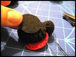 artemelza - joaninha de fuxico e feltro