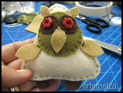 artemelza - coruja de feltro
