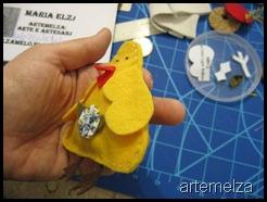 artemelza - pintinho de feltro