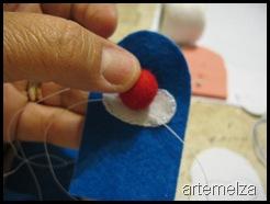 artemelza - fantoche de dedo - palhaço