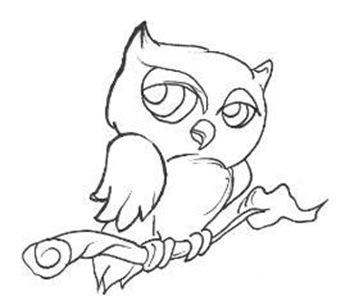 desenho de coruja