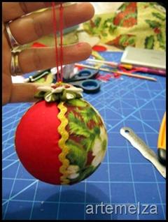 artemelza - bola de natal em isopor