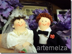 artemelza - noivos de bolo