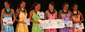 'E Hine' 1er prix danse traditionelle. Photo : La Dépêche de TAHITI