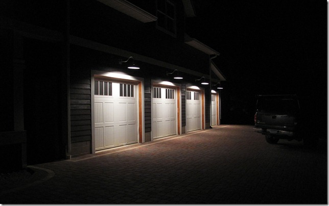 The L Shaped House Electrical Garage Lights 2