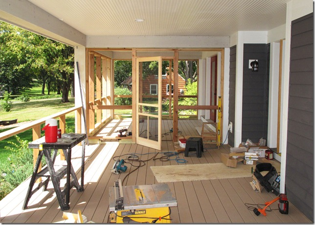 The L Shaped House Carpentry Porches Day 7