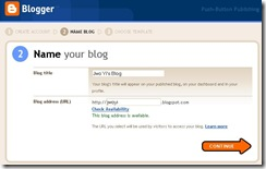 Setup Blogger Screen 2