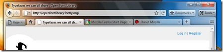 Firefox 4.0 Screen