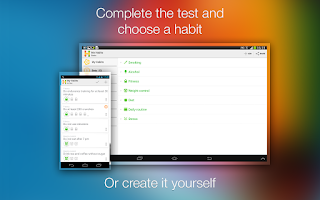 Screenshot of Habitizer. Habit Organizer