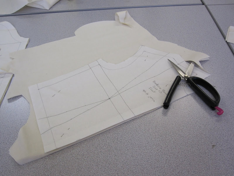 Basic bodice front, cut on the double