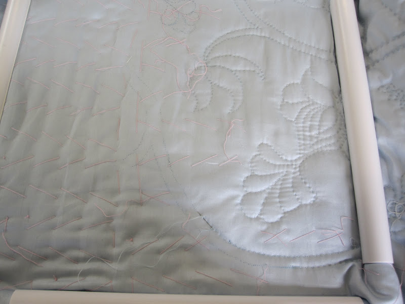 Starting the bottom border of the quilted petticoat