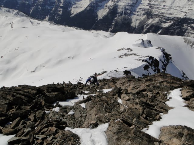 últimos metros a la cumbre