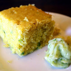 Jalapeño Cornbread with Honey-Lime Butter