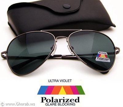 POLARIZED Aviator Sunglasses GUN METAL Retro Classic