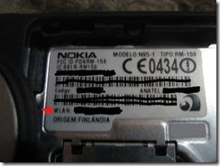 Localização do MAC Address no N95