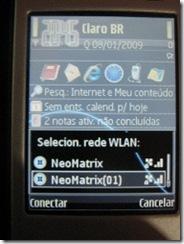 Selecionando a WLAN no N95