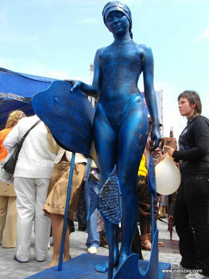 活雕塑大赛