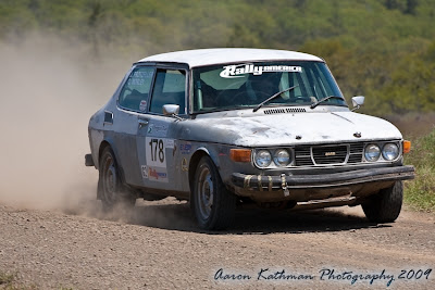 Saab Rally Car At Oregon Trail Rally 2009
