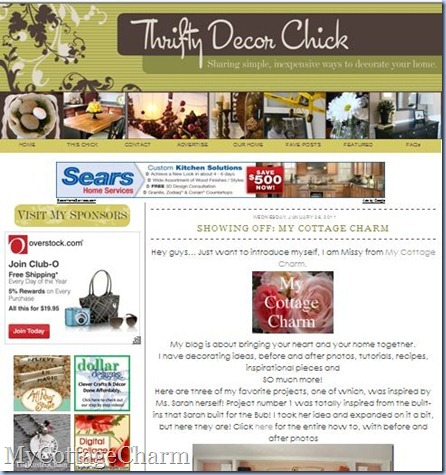 Thrifty decor chick screen shot