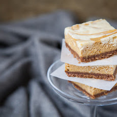Pumpkin Pie Cheesecake Bars with White Chocolate Vanilla Bean Swirl