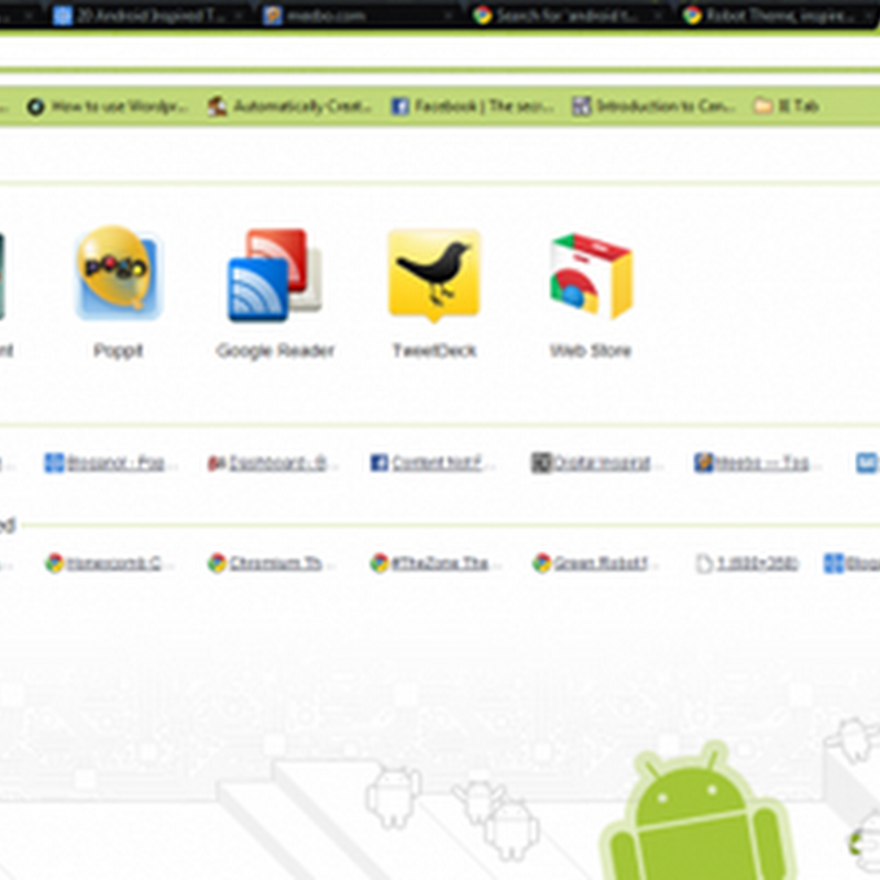 [Chrome]精選10個Android機器人主題下載