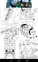 Screenshot of Coloring : Thomas and Friends