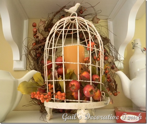 Gail s decorative touch fall cloches - Cage a oiseau decorative ...