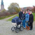 Familien på gåtur