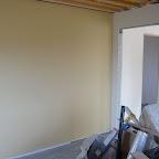 Malet væg i kontor, beige