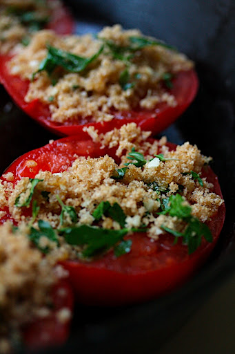 these baked tomatoes make for an excellent and elegant appetizer