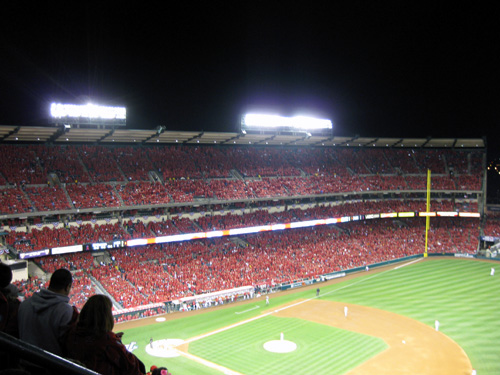Angel Stadium Snuggie Night