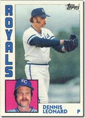 Dennis Leonard Topps 84