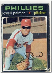 Topps 71 Lowell Palmer