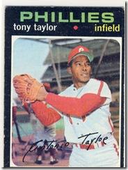 Topps 71 Tony Taylor