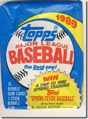 Topps 1989 Pack